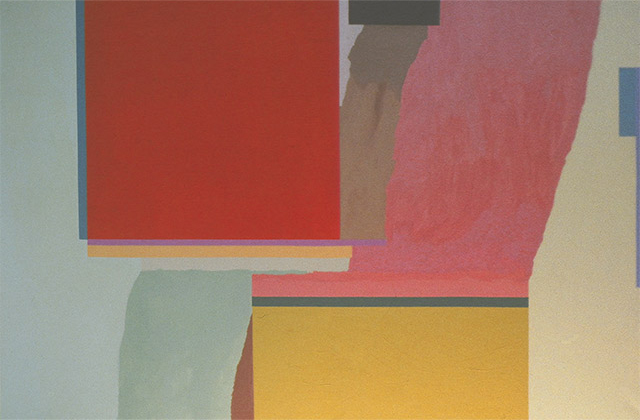 ORANGE RECTANGLE - Virginia Cuppaidge 1972